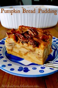 Pumpkin Bread Pudding from A Kitchen Hoors Adventures