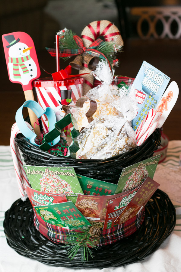 Baking lovers gift basket with nj lottery lemoine family Gifts for kitchen lovers