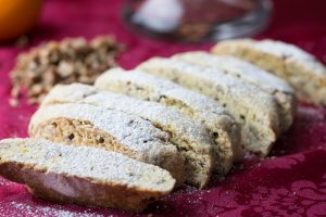 One of my favorite things to bake, aside from my scone obsession, is biscotti. They are an Italian twice baked drier cookie meant to be dunked into your coffee or espresso. These Orange Pecan Biscotti have such a wonderful flavor, are easy to make and perfect to add to your holiday cookie platters!