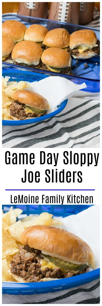 These Game DaySloppy Joe Sliders are SO good you guys!!! Its an easy recipe, fun party food and the flavors are spot on! You are definitely going to want to make a double or triple batch... they are going to fly off the plate!
