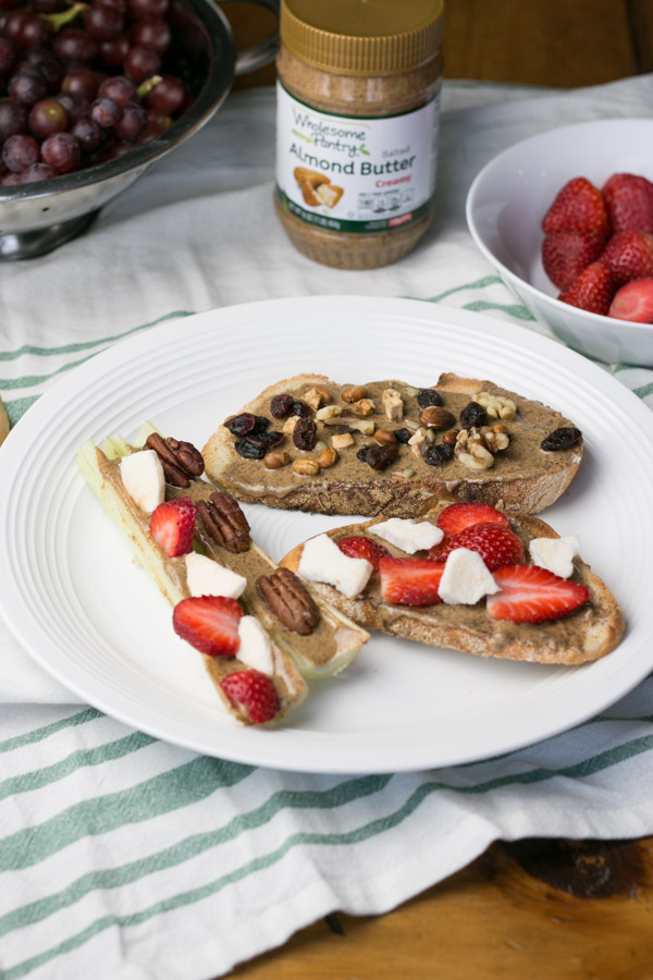 Mornings are hectic enough without having to worry about getting in a healthy and easy breakfast before running out the door. Today I'm sharing Two Healthy Breakfast Toasts with Almond Butter that are delicious, filling and take just a few minutes to throw together.
