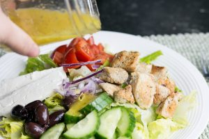 With Spring just around the corner I have been really craving salads lately. I made thisGreek Chicken Salad with Lemon Oregano Dressing the other day and WOW! So simple to make but so much incredible flavor. #healthy #salad