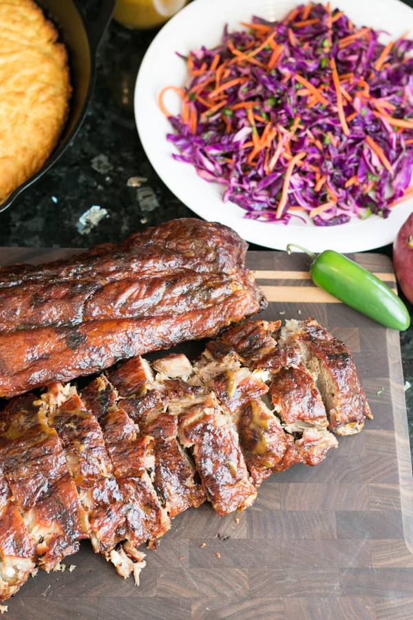 We have finally gotten a taste of that warmer weather so I had to get out there and make my Mango Jalapeño Ribs with Red Cabbage Slaw. Grilling tender, flavorful ribs is so easy and I am thrilled to share this recipe with you!  #Ad #GetGrillingAmerica