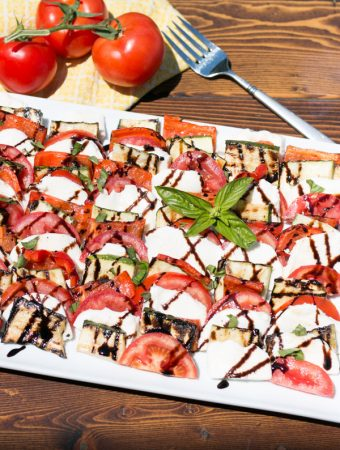 Grilled Vegetable Caprese Salad