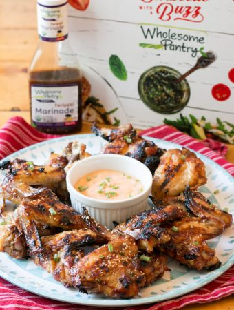 Grilled Teriyaki Wings with Sweet Chili Dipping Sauce