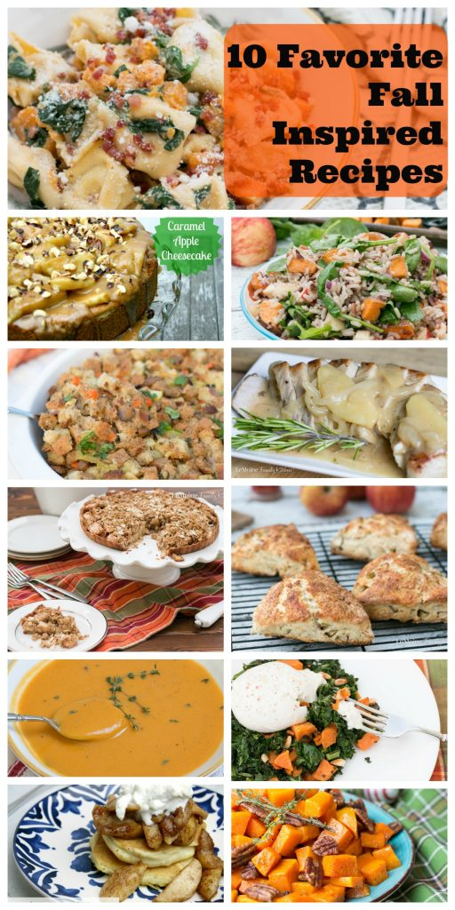 From breakfast scones to easy sides, main dishes and dessert these 10 Favorite Fall Inspired Recipes have got you covered for the season!