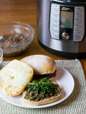 Power Quick Pot™ Italian Beef Dip Sandwich
