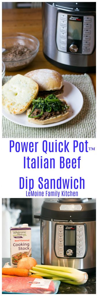 #ad Oh my!!! You guys I  am so incredibly excited to share todays recipe with you for two reasons- #1 I  used the NEW Power Quick Pot™ Pressure Cooker and its AMAZING! #2 This recipe for Pressure Cooker Italian Beef Dip Sandwich is ridiculously easy and DELICIOUS!