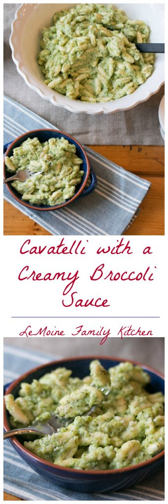 I  am all about easy right now! For my family dinners pasta is a huge go to. Its easy, fast and I  can prepare it so many different ways. This Cavatelli with a Creamy Broccoli Sauce was a big hit my family and I hope you'll love it too!