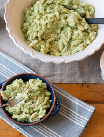Cavatelli with a Creamy Broccoli Sauce