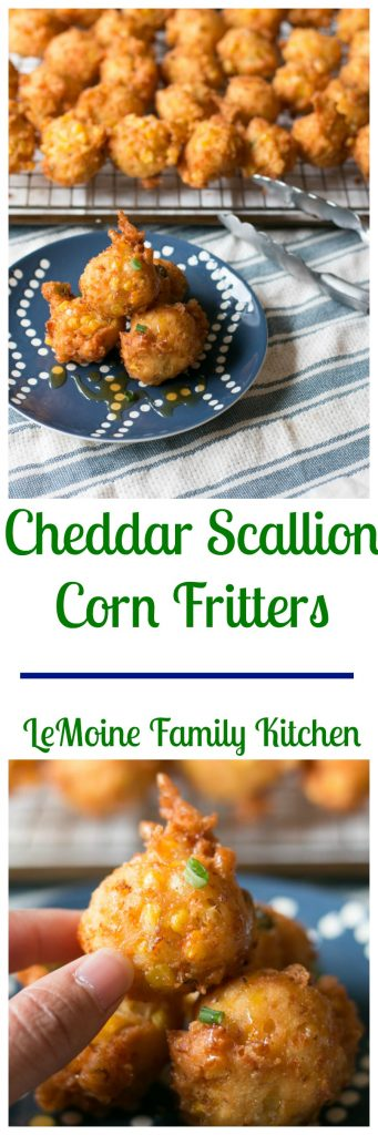 Cheddar Scallion Corn Fritters