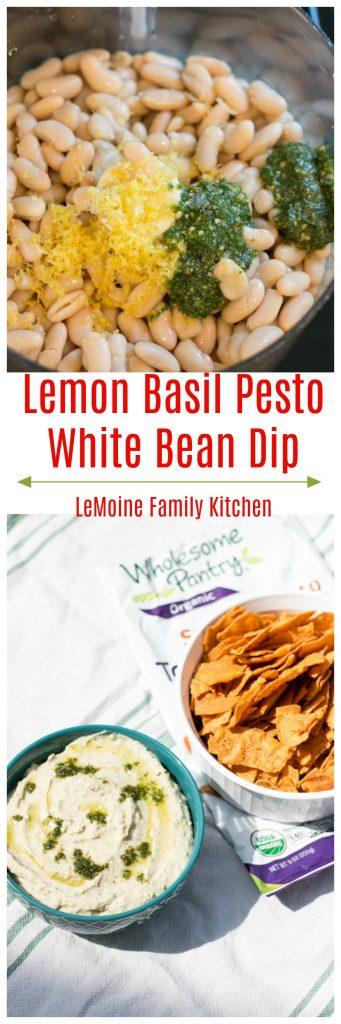 Lemon Basil Pesto White Bean Dip
