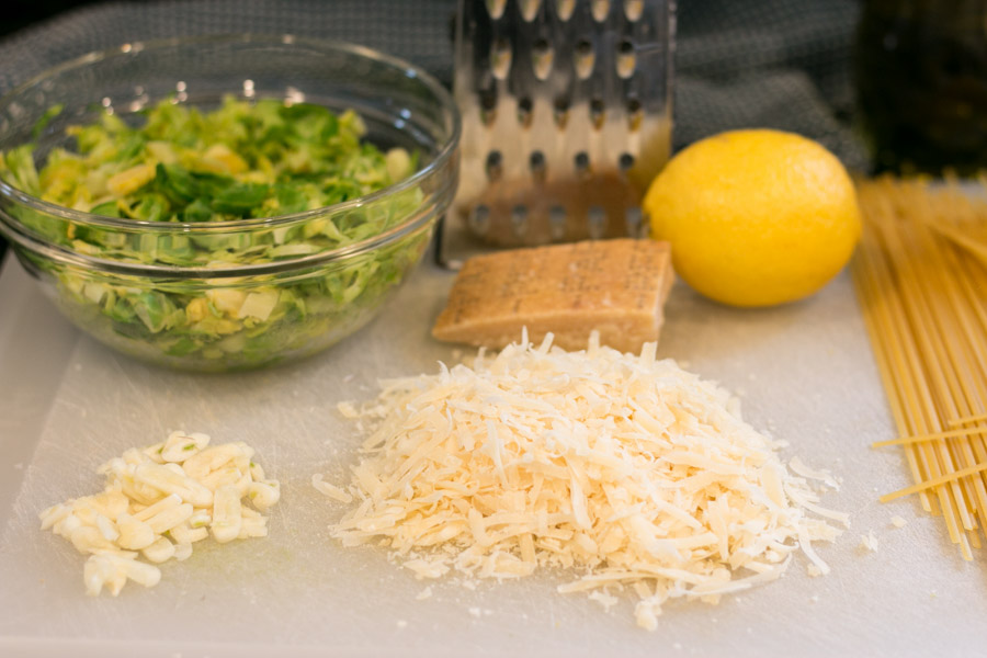 Lemon & Brussel Sprout Linguini