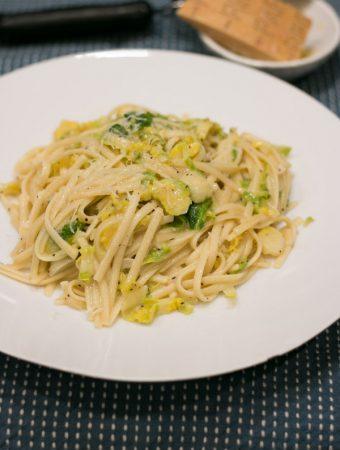 Lemon & Brussel Sprout Linguini