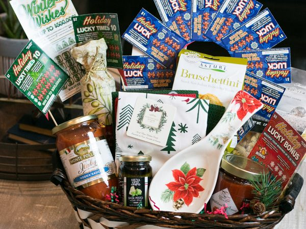 Pasta Lovers Gift Basket With NJ Lottery