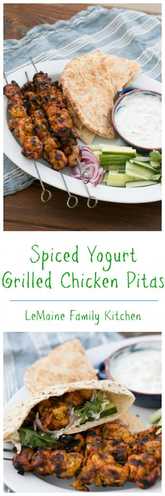 Spiced Yogurt Grilled Chicken Pitas