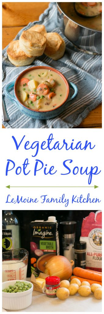 Vegetarian Pot Pie Soup