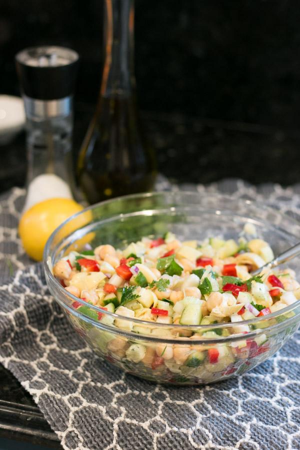 Lemon Chickpea Salad