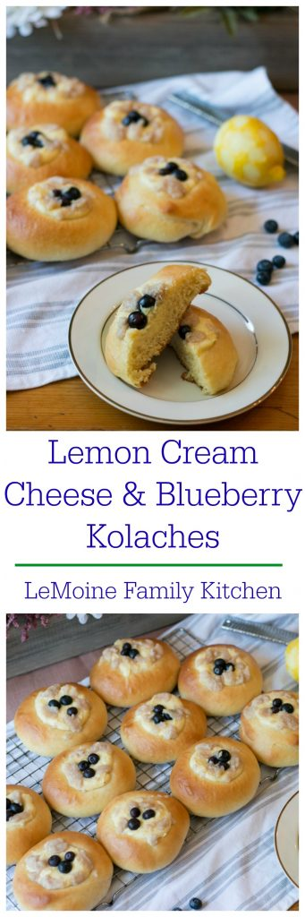 Lemon Cream Cheese & Blueberry Kolaches