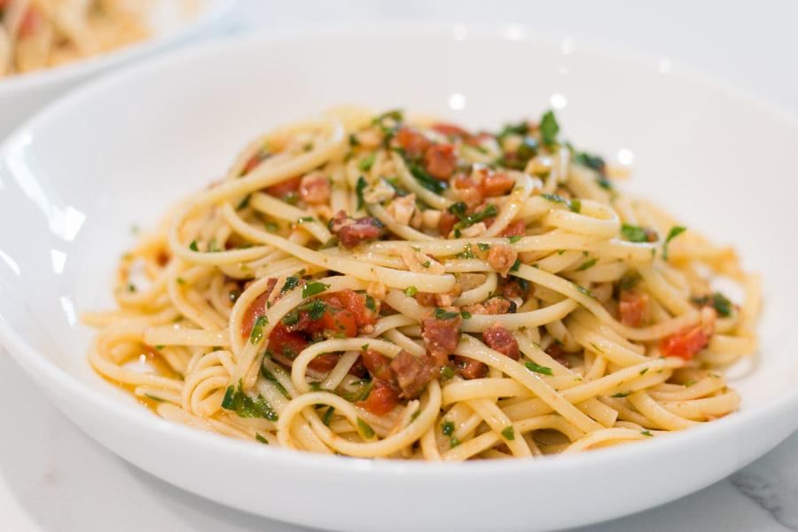Linguini with Pancetta & Fresh Tomato