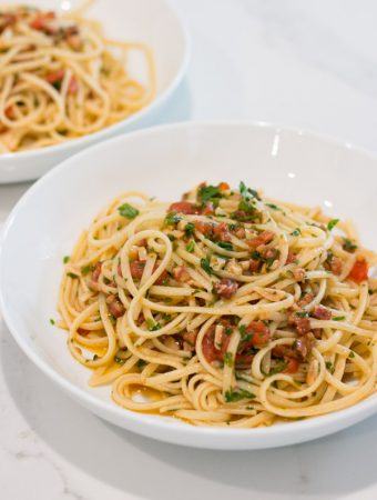 Linguini with Pancetta & Fresh Tomato