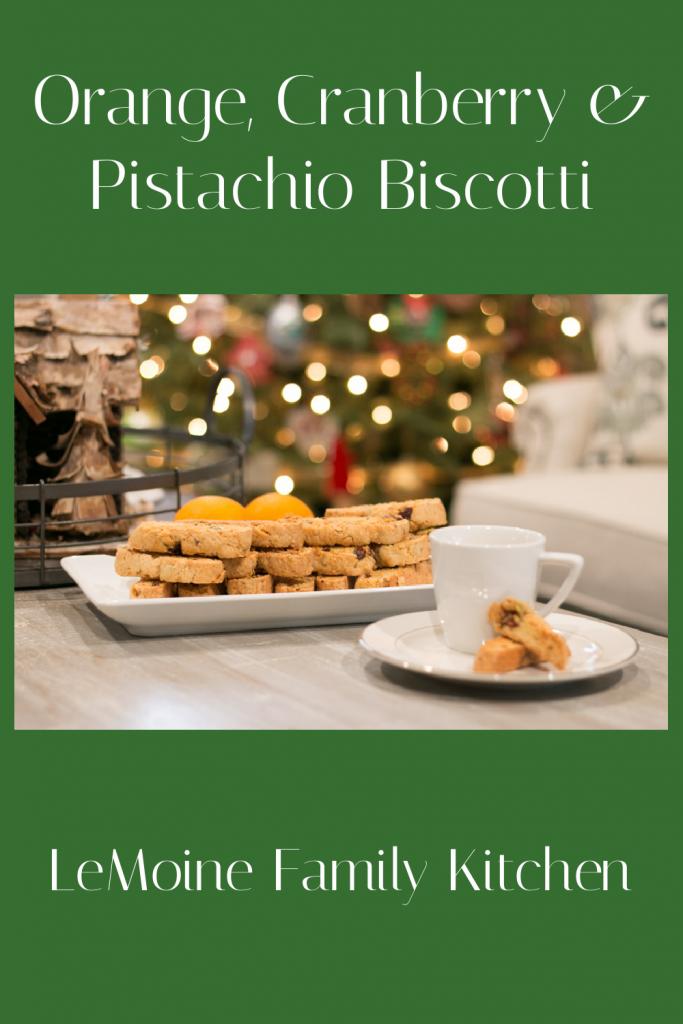 Orange, Cranberry & Pistachio Biscotti